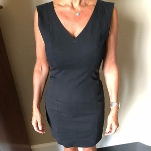 Theory Black v neck fitted dress (2) - worn twice!
